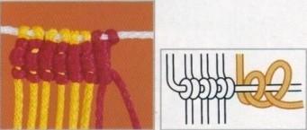 Nudo plano retorcido doble horizontal