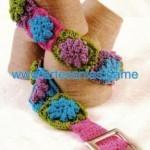 Cinturón de crochet