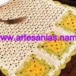 Mantel individual en crochet